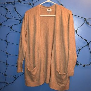 Tan cardigan from old navy